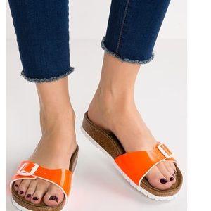 Birkenstock Shoes - BIRKENSTOCK Neon Orange Sandals NEW