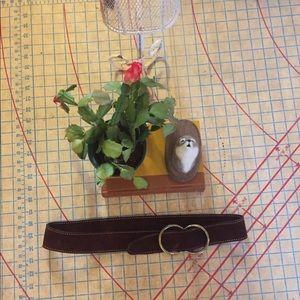 Accessories - 1970s vintage suede belt