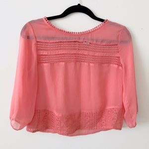Garage Tops - Garage Lace Detail Blouse