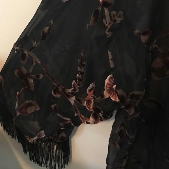 Lily White Other - Sheer Black Floral Kimono
