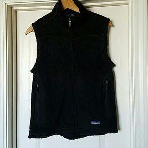 Patagonia Jackets & Blazers - Patagonia Polartec Black Fleece Zip Vest VTG