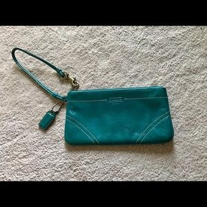 Coach patent leather wristlet!
