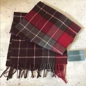 Lyle & Scott Other - Lyle and Scott NWT men's plaid scarf 100% cashmere