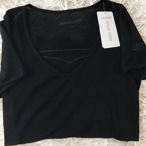 Zadig & Voltaire Tops - NWT Zadig & Voltaire Ribbed Knit SS Top