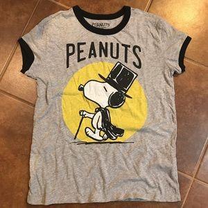 Peanuts Tops - Forever 21 Peanuts Tee