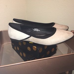 Two-toned Gray, White, and Black Flats