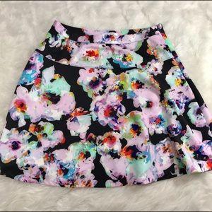 Spense Dresses & Skirts - Spense Abstract Floral Circle Skater Skirt