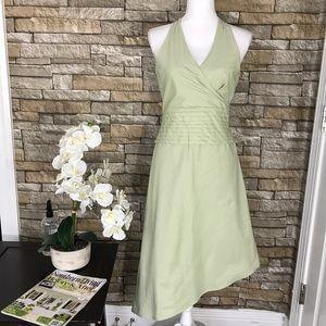Kay Unger Dresses & Skirts - Kay Unger Green Sleeveless Asymmetrical Dress
