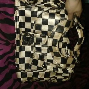 vans black and white checkered bag