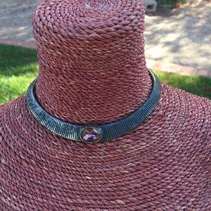 American Vintage Jewelry - Antique vintage gemstone collar