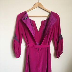Nanette Lepore Dresses - Nanette Lepore Embroidered Magenta Dress