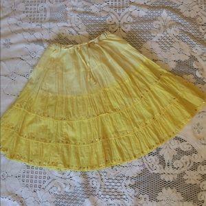 Dresses & Skirts - 🌼Spring chic yellow boho skirt