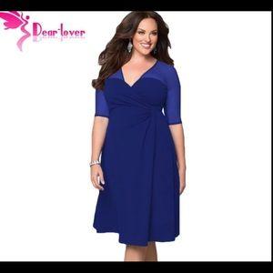 Dresses & Skirts - ♦️gorgeous sapphire blue plus size wrap dress