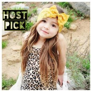 Other - Yellow Lace Headband