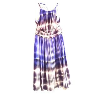 Fit and Flare Halter Dress. Edgy on the Tie Die.