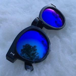 SALE🌍 Blue Mirror Round Tortoise Sunglasses