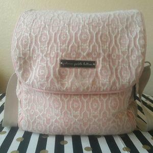Petunia Pickle Bottom Handbags - Pink Chenille Petunia Pickle Bottom