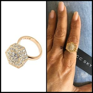 CC Skye Jewelry - CC SKYE ⚡️ Bolt Gold & Pave Ring NWT