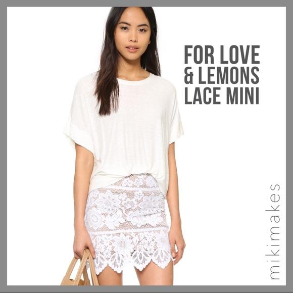 0e3b31555b6   for love   lemons   NWT Gianna white lace skirt