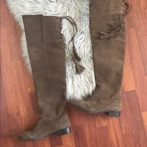 Musse and Cloud Shoes - Musse + Cloud Suede Over the knee boots