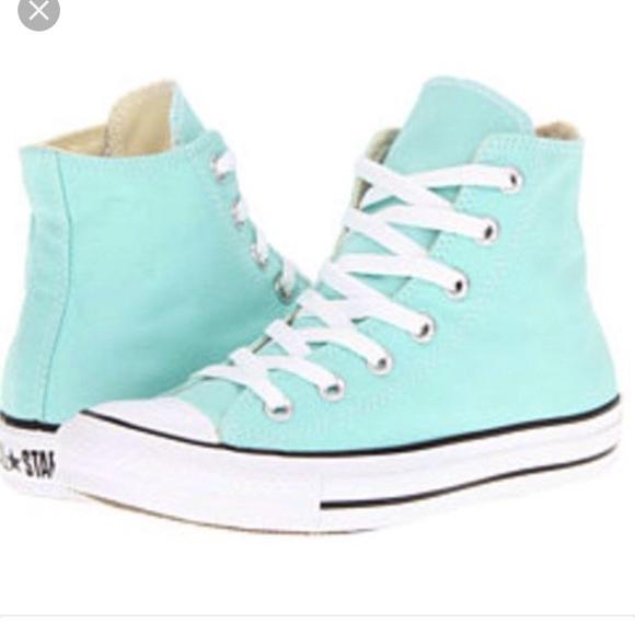 f3ea9b285c537c Converse Shoes - Light blue high top converse