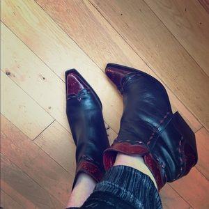"""Donald J. Pliner Shoes - Donald Pliner """"Black Vachetta"""" Western Couture"""