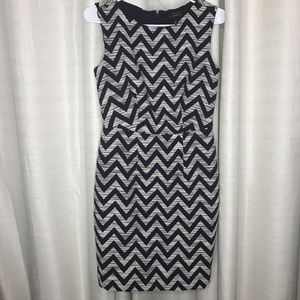 The Limited Dress Size 0 Navy Chevron