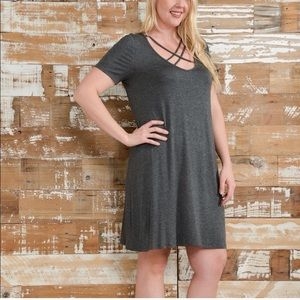 Bellino Clothing Dresses & Skirts - 🌹PLUS SIZES! Flirty crisscross HOST PICK!