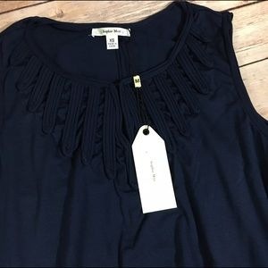Sophie Max Tops - NEW NWT Sophie Max Germaine Trapeze Tank Navy XS