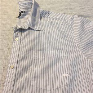Quiksilver Other - Men's Quiksilver white striped button down shirt