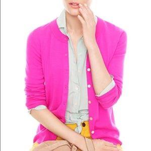 J. Crew Sweaters - J. Crew bright pink tippi sweater cardigan cardi
