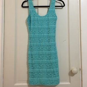 Forever 21 Dresses & Skirts - Turquoise Lace Detail Dress