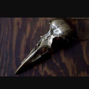 Pamela Love Bronze Crow Skull necklace