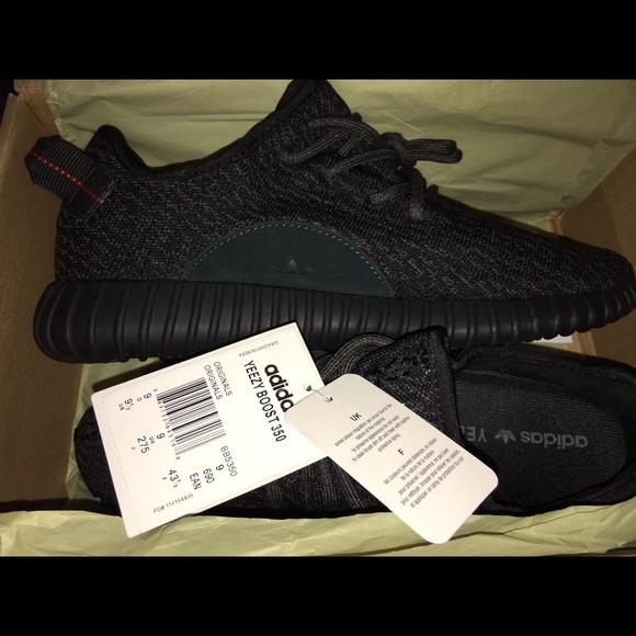 74cc1f14dafa0 Adidas Yeezy Boost 350 PIRATE BLACK sz 9.5