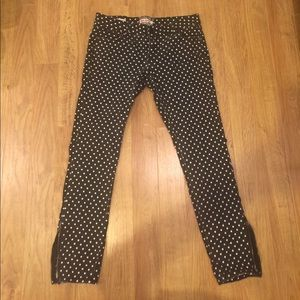 Hot Kiss Pants - HOT KISS polka dot skinny jeans