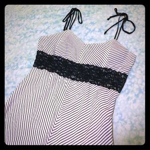 Vanity Dresses & Skirts - Striped Dress with lace