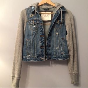 Abercrombie & Fitch Sweat Jean Jacket S