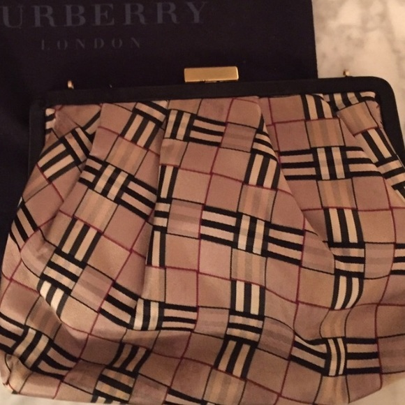 Burberry Handbags - Burberry Evening Bag! Has place on top for chains ec35677dbee4d