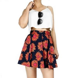Anthropologie Dresses & Skirts - Anthropologie band of gypsies floral skater skirt