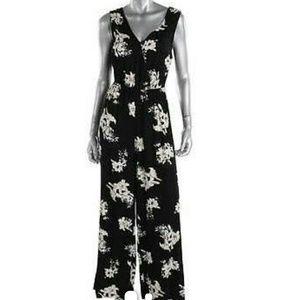BB Dakota black floral prink jumpsuit