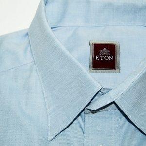 Eton Other - ETON BLUE button up shirt size Large