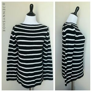 {zara} striped tunic sweater