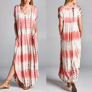 🆕CHENELLE boho chic dress - CORAL