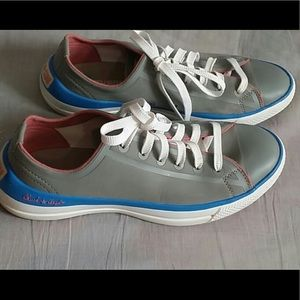 CONVERSE SIZE 8 WOMENS GREY/BLUE SHOES