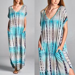 CHENELLE boho chic dress - MINT