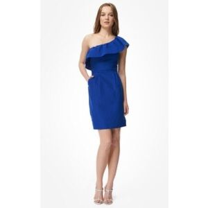 Rebecca Taylor Dresses & Skirts - Rebecca Taylor royal blue one shoulder dress