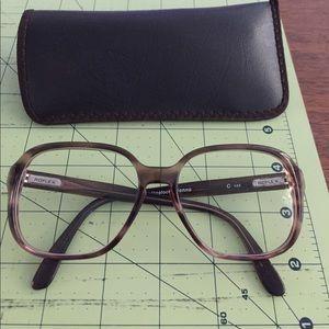 Vintage brown eyeglasses frame