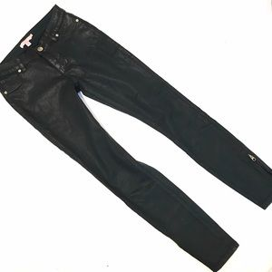 Ted baker wax skinny jeans with zippers