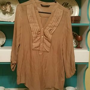 Zara Tops - Zara Womens Silk blend tunic