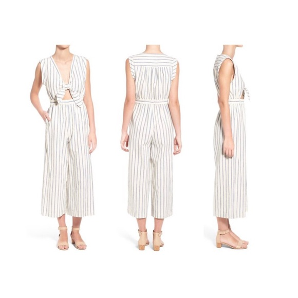 97c30bd622e Madewell Pants - MADEWELL Tie front culotte jumpsuit - Ikat stripe